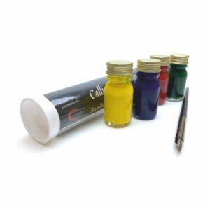 Callistick - tube de calligraphie 4 couleurs et porte plume